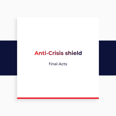 Anti-Crisis shield - final Acts